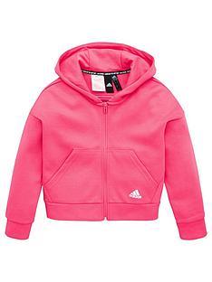 adidas-junior-3-stripe-full-zip-hoodie-pink