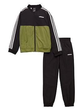 adidas-childrens-core-woven-tracksuit-olive