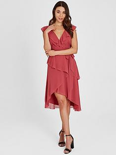 little-mistress-chiffon-wrap-midi-dress
