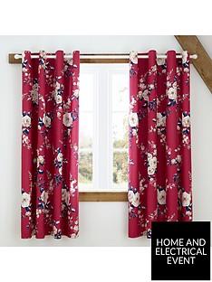 catherine-lansfield-canterbury-eyelet-blackout-curtains-raspberry