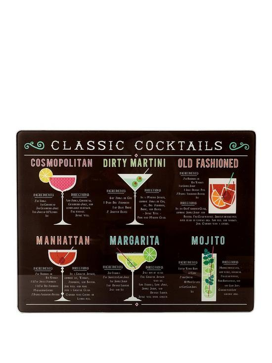 Classic Cocktails Work Surface Protector