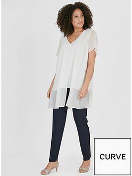 evans-split-front-blouse