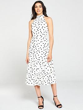 oasis-oasis-spot-high-neck-tiered-midi-dress-longer-length