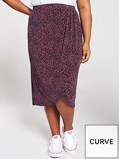 0428ccf2f3 Oasis Curve Isla Animal Drape Jersey Skirt - Multi