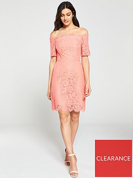 oasis-lace-bardot-shift-dress-coralnbsp