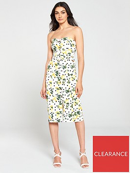 oasis-lemon-spot-cotton-dress-multi-natural