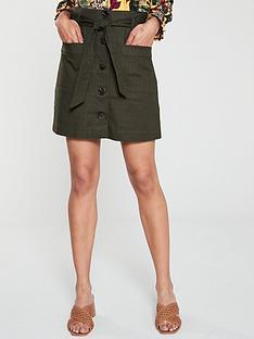 e7e98c37cc Oasis Patch Pocket Button Skirt - Khaki