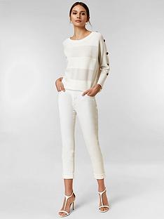 e37abbf04ed0 Wallis Petite Scarlett Roll Up Skinny Jeans - White