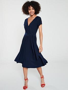 wallis-jersey-midi-wrap-dress-ink