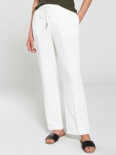 wallis-tie-front-linen-trouser-white