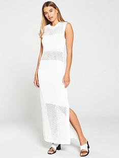 warehouse-mesh-panel-maxi-dress-ivory