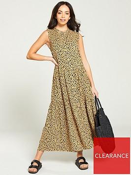 warehouse-leopard-tiered-shirt-midi-dress-multi