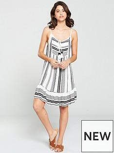 90d99922c5 South Beach Jacquard Strappy Dress - Black White
