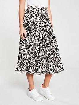 oasis-pleated-skirt-animal-print