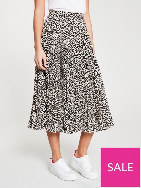 6d56c06d4f61 Oasis Pleated Skirt - Animal Print | very.co.uk