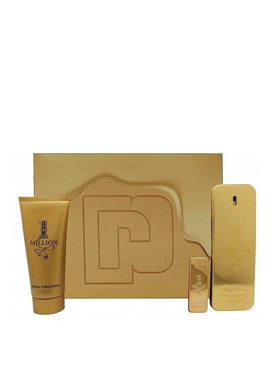 77de851f30fb Paco Rabanne Paco Rabanne 1 Million Mens 100ml Eau de Toilette, 5ml Eau de  Toilette & 100ml Shower Gel Gift Set