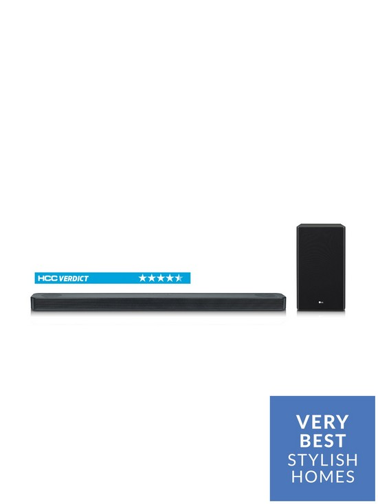 LG SL8YG Soundbar - 3 1 2-channel, 440W, Dolby Atmos, Hi-Res Audio  (24bit/96kHz), Sound Upconverting, 4K Pass through, Chromecast built-in
