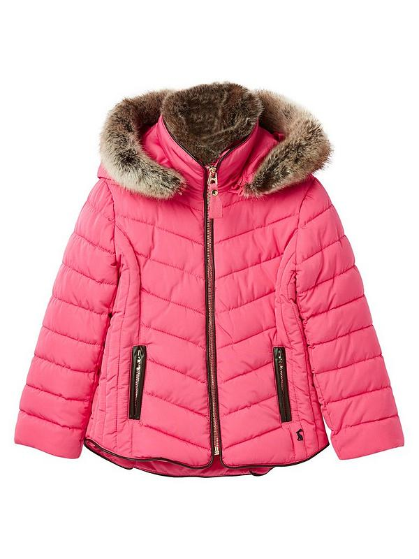 big collection yet not vulgar numerous in variety Girls Gosling Quilted Coat - Pink