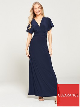 v-by-very-ruchednbspwaist-wrap-front-ity-maxi-dress-navy