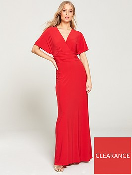 v-by-very-ruchednbspwaist-wrap-front-itynbspmaxi-dress-red