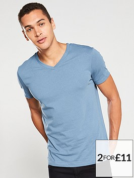 v-by-very-essential-v-neck-t-shirt-airforce-blue