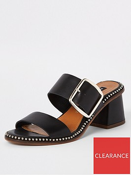 river-island-river-island-wide-fit-leather-stud-block-heel-sandals-black