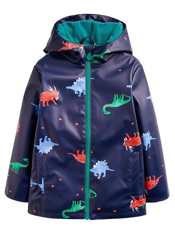 on feet shots of look for top fashion Toddler Boyd Skipper Dino Rubber Coat - Navy