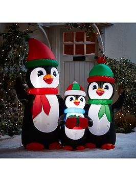 festive-5ft-inflatable-penguin-family-outdoor-christmas-decoration