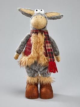 festive-standing-plush-donkey-room-decoration