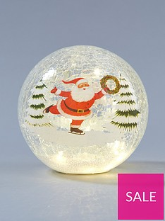 santa-scene-lit-crackle-effect-ball-christmas-decoration