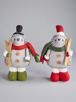 set-of-2-hedgehog-christmas-decorations