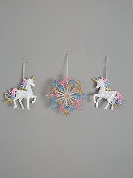 set-of-3-unicorn-and-starburst-rainbow-christmas-tree-decorations