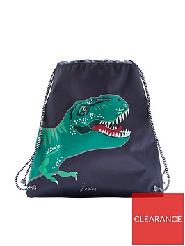 joules-boys-t-rex-drawstring-bag-navy