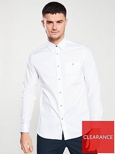 ted-baker-long-sleeved-branded-tape-shirt-white