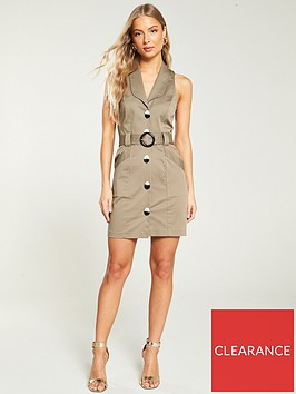 river-island-river-island-belted-button-detail-bodycon-dress--stone