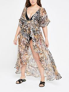 e461830541f RI Plus Animal Print Beach Dress