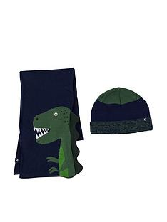 joules-boys-rex-dino-hat-and-scarf-set-navy