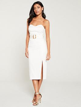 river-island-river-island-belted-strapless-bodycon-dress--white
