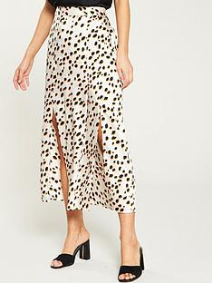 river-island-spot-wrap-skirt--white