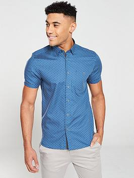 ted-baker-small-triangle-micro-pattern-shirt-blue