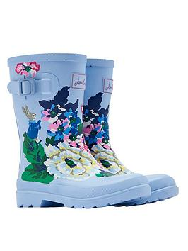 joules-girls-peter-rabbit-floral-welliesnbsp--light-blue