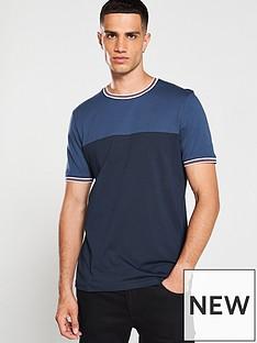 ted-baker-panel-t-shirt-blue