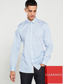 ted-baker-feather-print-endurance-shirt-bluewhite