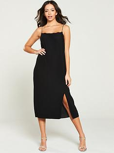 river-island-lace-trim-slip-dress--black