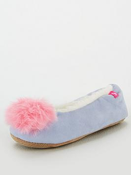 joules-girls-pombury-pom-pom-slippers-light-blue