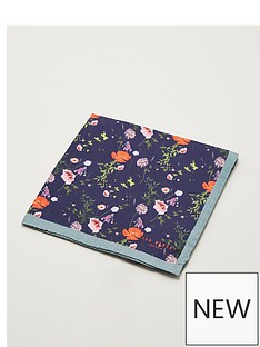 ted-baker-hedgpok-floral-pocket-square-navyteal