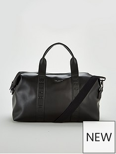 ted-baker-debossed-holdall-black