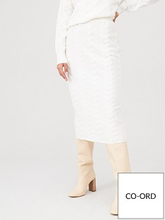v-by-very-co-ord-cable-knitted-skirt-cream