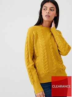 v-by-very-cable-knit-jumper-ochre