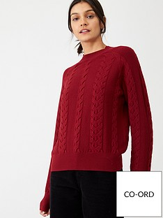 v-by-very-cable-knit-co-ord-jumper-berry